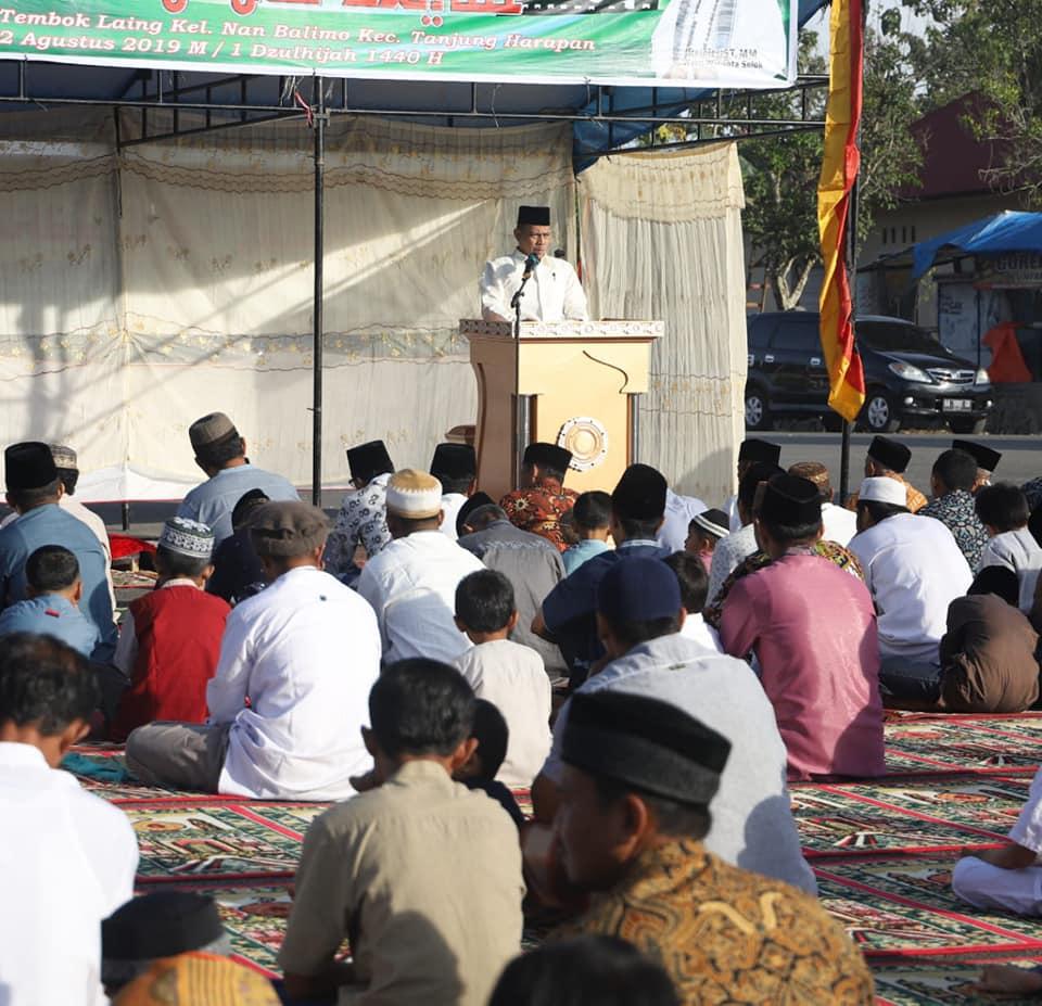 Wawako Shalat Ied Idul Adha Di Simpang Lima Laing